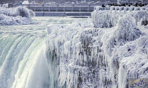 تجمد شلالات نياجرا في كندا بسبب الصقيع Niagara Falls Niagra Falls Niagara Falls Winter