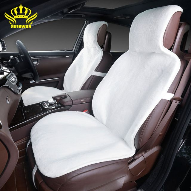 For 2 Front car seat covers fur cute car interior accessories cushion cover styling winter