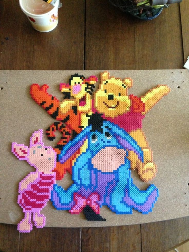 Winnie and friends hama beads - Marine Pixel Art Créations