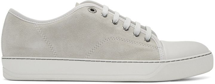 Sneakers for Men On Sale in Outlet, Elephant Grey, suede, 2017, 10 6 7 8 9 Lanvin