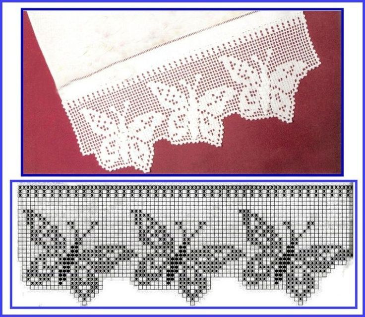 cenefas on Pinterest | Patron Crochet, Filet Crochet and Ganchillo