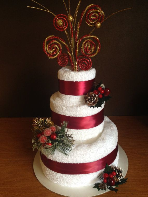 Christmas Bath Towel Cake Elegant And By