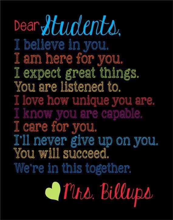 Dear Students Poster | Dear Students...
