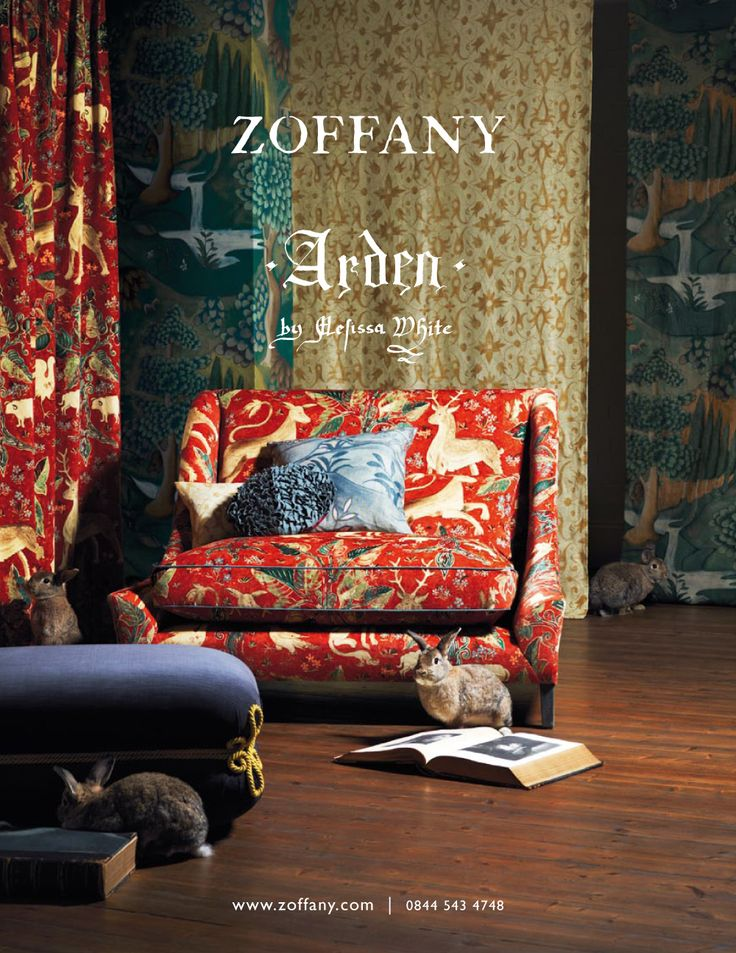 ZOFFANY ARDEN SPRING 2012 Zoffany, in association with Melissa White, present Arden, the most comprehensive collection to date of designs inspired by the Elizabethan style of the late 16th century.