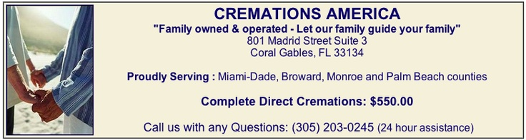 Low cost direct cremation in Miami - $550