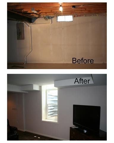 Michigan Basement Contractors - Bloomfield Hills, MI, United States. Before and After photo of a transformed basement with an egress window  by http://www.MichiganBasements.com