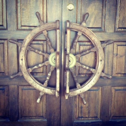 The most awesome doorknobs ever. I have 2 ship wheels, but I LOVE this!!
