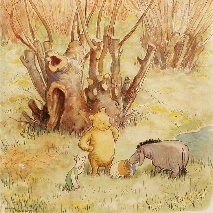 17 best images about winnie the pooh on pinterest always for Rough and milne