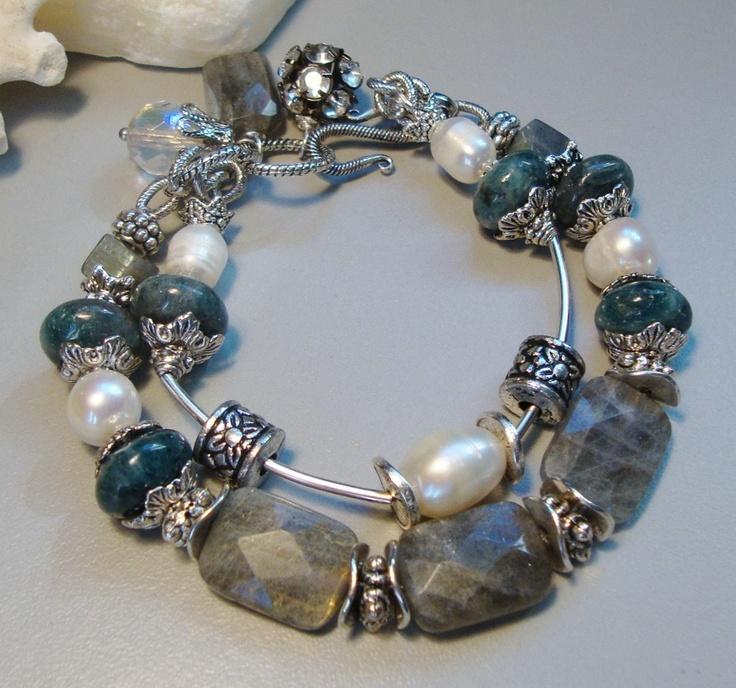 Pandora Grey Pearl Earrings: SHOP SALE Reflective Moment Labradorite Pearl Kyanite