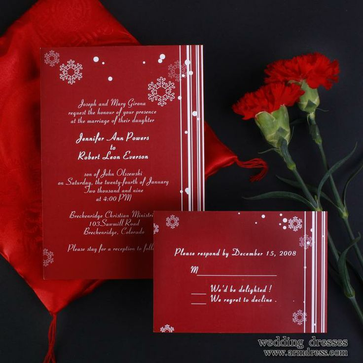 Winter Wedding Invitations Cheap: 98 Best Red Christmas Wedding Images On Pinterest