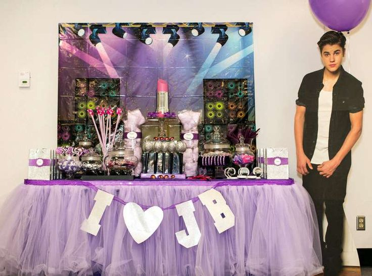 Justin Bieber & Lipgloss Party Birthday Party Ideas | Photo 1 of 11