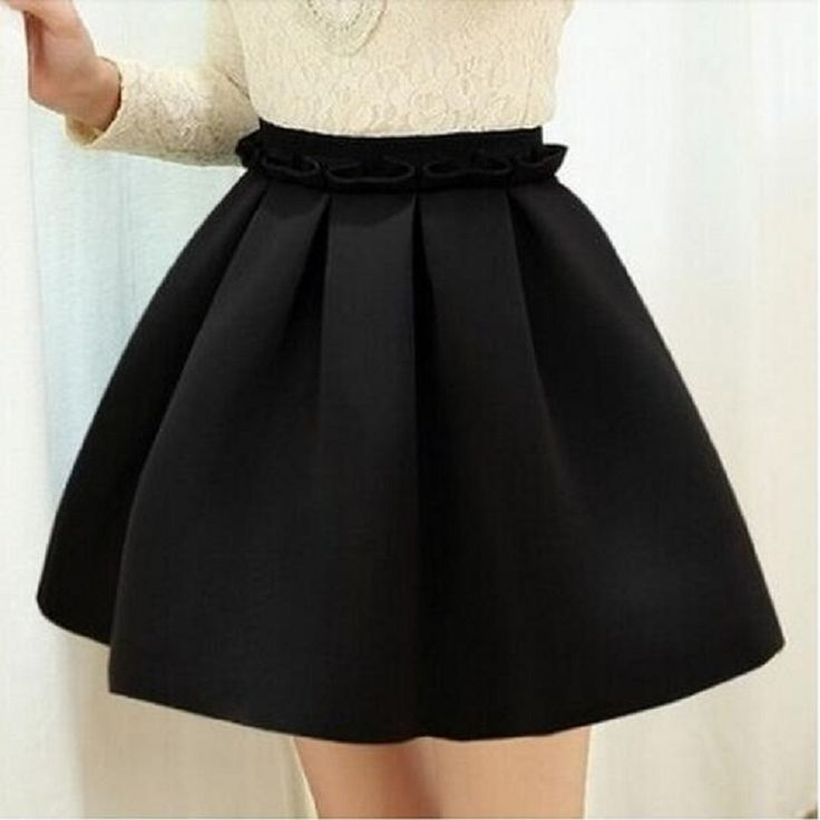2016 Autumn skirt space cotton elastic force high waist skirt pleated skirts women tutu skirt saia polychromatic casual