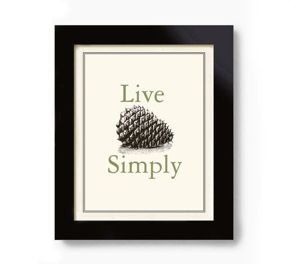 Cabin Decor Pinecone Vintage Cabin Sign Art Print on Etsy, $18.00