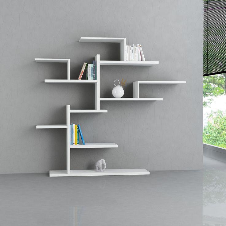 Decortie Bonsai Bookcase White