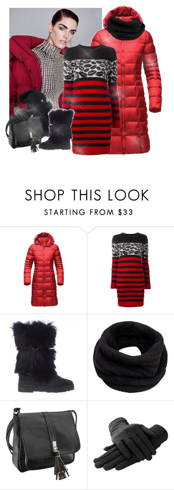 """""""Hladan Januar"""" by aida-ida ❤ liked on Polyvore featuring The North Face, Just Cavalli, Bearpaw and Helmut Lang"""