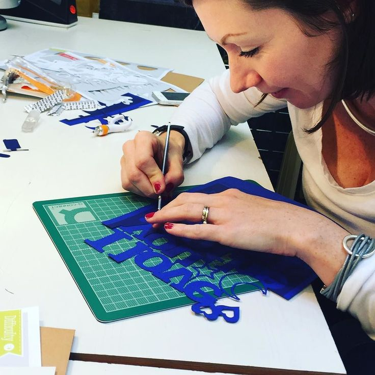 Super work from Stacy one of the @notonthehighstreet competition winners enjoying her papercutting workshop yahoooo!