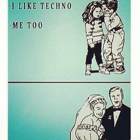 Techno and Rave meme