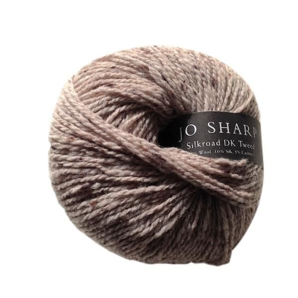Silkroad DK Tweed, wool, silk and cashmere knitting yarn, 50g, Cocoa - I Wool Knit - 1