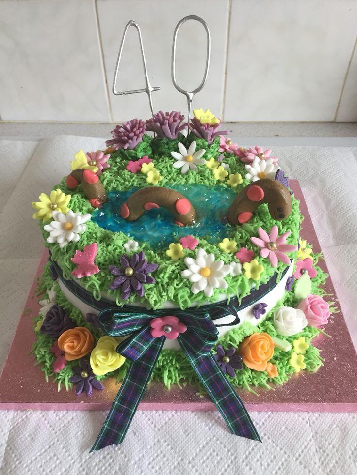 Scottish themed 40th birthday cake