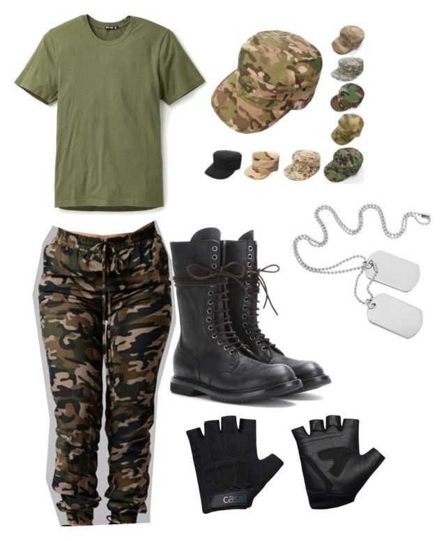 """""""hip hop army outfit"""" by punkstyle18 on Polyvore featuring BLK DNM, Rick Owens and Casall"""