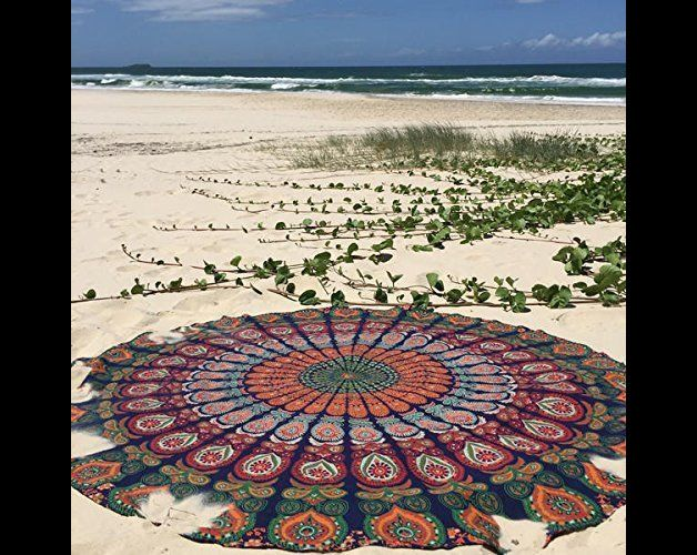 Wall Art – Mandala Round Roundie Hippie Tapestry 48 x 48 Inch – a unique product by IndianCraftPalace on DaWanda
