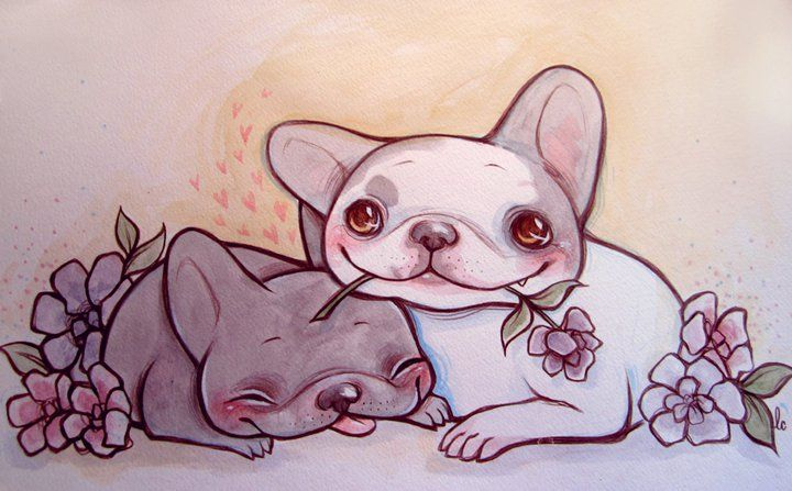 Frenchie Commission by lindsaycampbell.deviantart.com