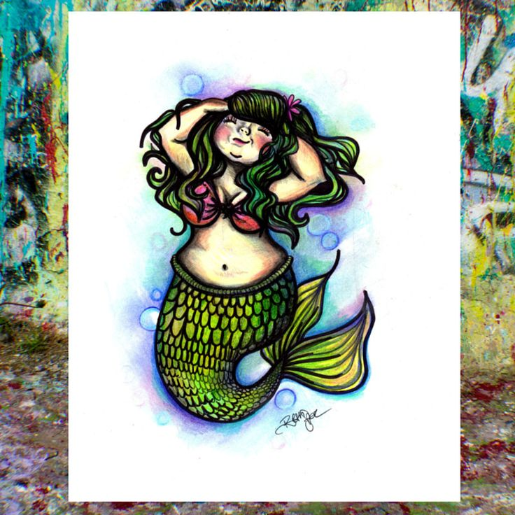 Mermaid Gifts Mermaid Decor Mermaid Art Print Mother S: 17 Best Ideas About Fat Mermaid On Pinterest