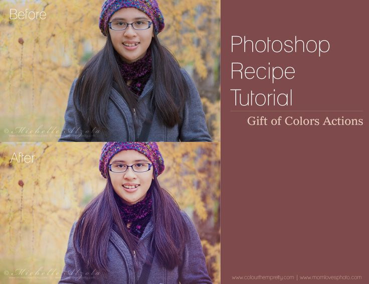 Photoshop Recipe Tutorial Gift of Colors Actions