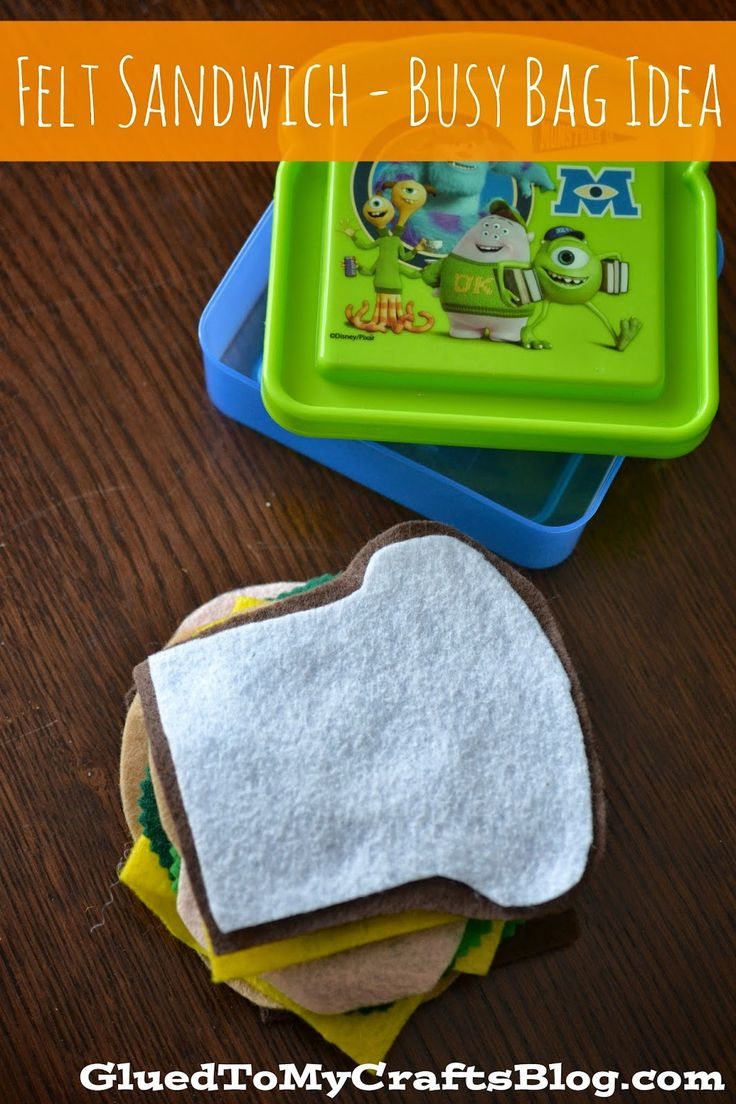 Glued to my Crafts: Felt Sandwich {Busy Bag Idea}