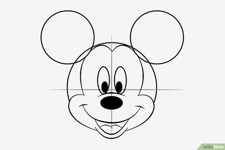 Micky Maus zeichnen   Micky maus, Mickey mouse schablone ...
