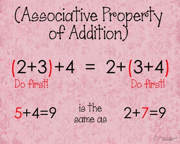 Squarehead Teachers: Associative property of addition poster to print out instead of hand-making one! FREE!