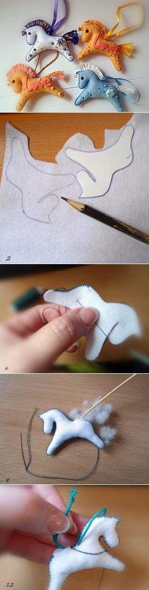 «Готовь сани летом...», или шьем елочную игрушку «Лошадка» - Ярмарка Мастеров - ручная работа, handmade