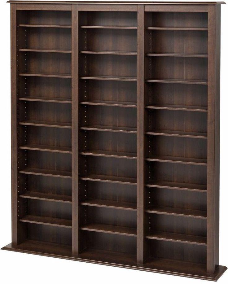 Prepac Everett Espresso Barrister Contemporary Media Storage Cabinet New #Prepac