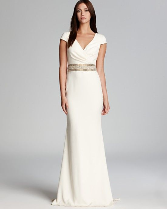 17 best images about sleek and chic wedding dresses on for Sleek wedding dresses with sleeves