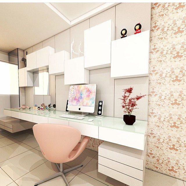 Inspiração para home office  por: Suellen Montenegro. @decorcriative