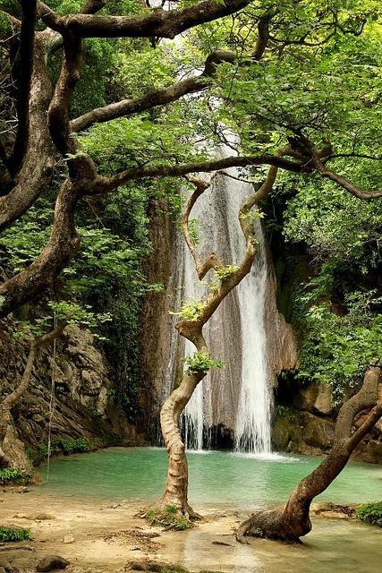 Neda Waterfalls in Peloponnese, Greece
