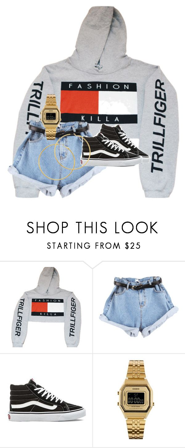 """""""Untitled #29"""" by rosymamii ❤ liked on Polyvore featuring Vans, Casio and Melissa Odabash"""