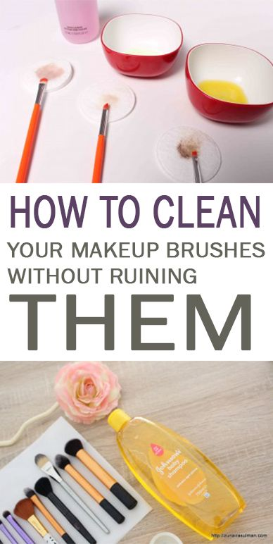 How to Clean Your Makeup Brushes Without Ruining Them - 101 Days of Organization