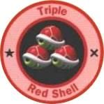 Triple Red Shell from the official artwork set for #MarioKart64 on the #N64. #MarioKart #Mario #Nintendo64. Visit for more info http://www.superluigibros.com/mario-kart-64
