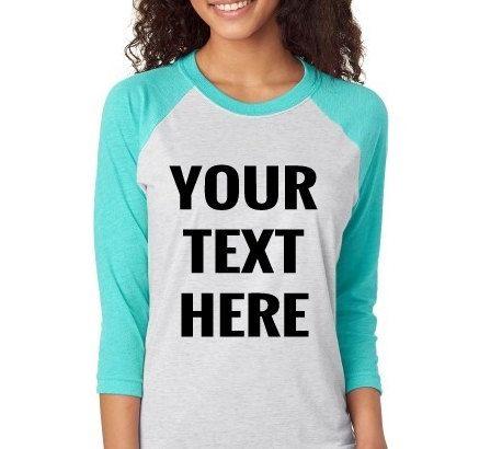 Raglan Tee - Womens Raglan Tee - Raglan Shirts -  Custom Raglan Tee - Custom shirts for women - custom clothing - Baseball Tees - cute tee by CuteShirts on Etsy