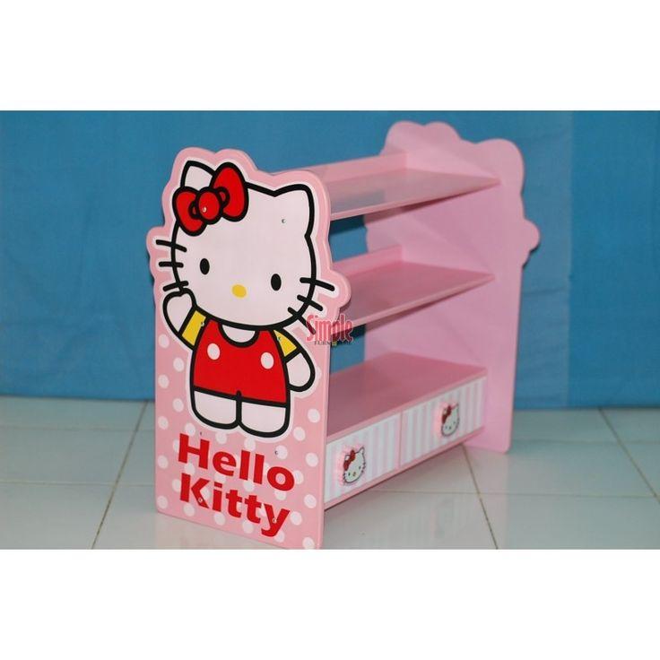 Jual rak sepatu hello kitty murah Free ongkir Jakarta dan kota-kota besar di jawa. Dengan desain minimalis tapi tetap kuat dan kokoh. info harga dan pemesanan: 085649626866 PIN BB 7D4492D7