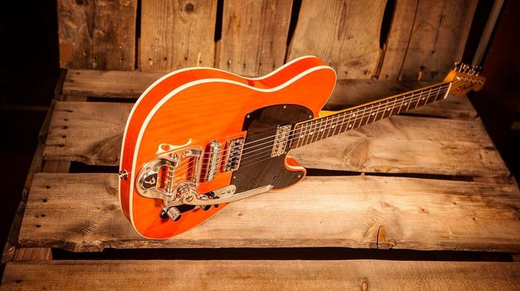 Just Arrived! @fendercustomshop NOS Telecaster in Trans Orange with a Bigsby! #itsahighendguitarthing #tele #telecaster #bigsby