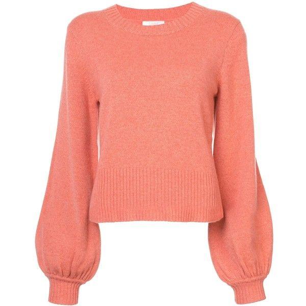 Chloe Orange Cashmere Sweater ($1,095) ❤ liked on Polyvore