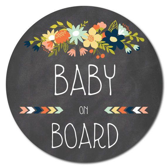 Baby on Board sticker / Bébé à bord autocollant