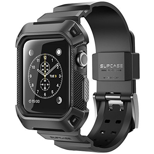 Apple Watch Case, SUPCASE [Unicorn Beetle Pro] Rugged Protective Case with Strap Bands for Apple Watch / Watch Sport / Watch Edition 2015 [42mm Not Compatible with 38 mm] (Black) Supcase http://www.amazon.com/dp/B013H1EP3G/ref=cm_sw_r_pi_dp_37Xwwb0BCYG6C