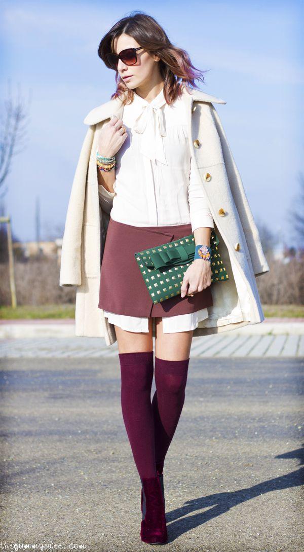 A lukewarm day…    The Gummy Sweet   Elisa Bersani  Wearing Aniye By dress, vintage coat, La Fille Des Fleurs pochette, Bertie boots, Hipanema bracelets