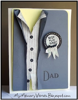 """This is a very cool card!  Father's Day or even a """"Rough Day?"""" card  use buttons from SU Vintage Trinkets"""