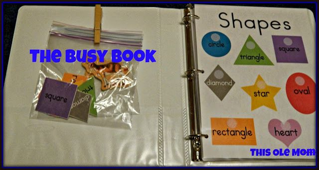 The Busy Book ...Shapes, Numbers, Learning Book, Magnets #Busy # Book #Shapes