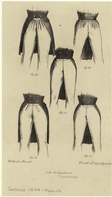 costume drawing- french