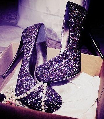 Beautimus Sparkly Purples Heels Shoes <3